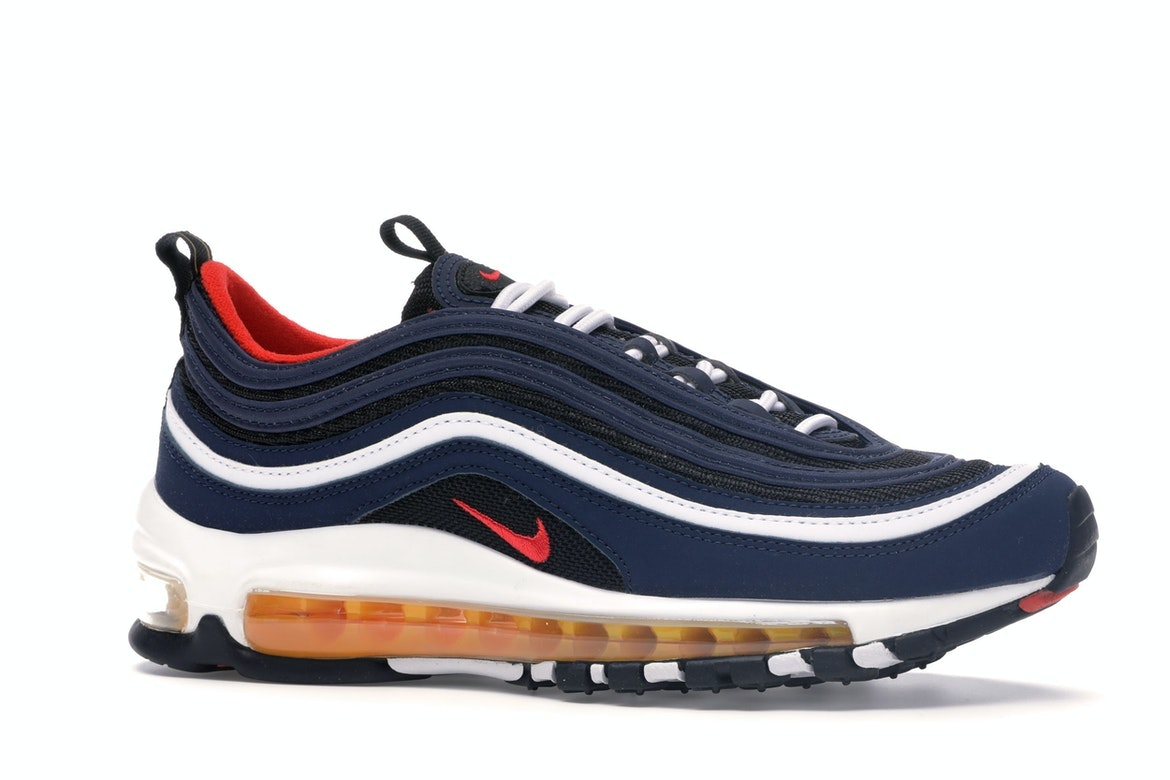 Air Max 97 Midnight Navy Habanero Red (GS)