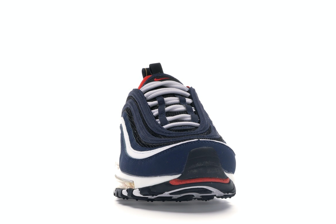 GS Nike Air Max 97 Midnight Navy//Habanero Red 921522 402