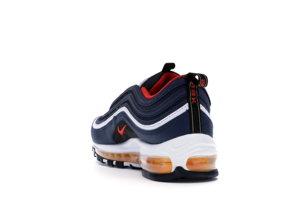 Air Max 97 Midnight Navy Habanero Red