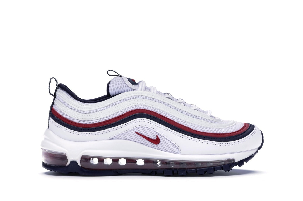 air max 97 white and red