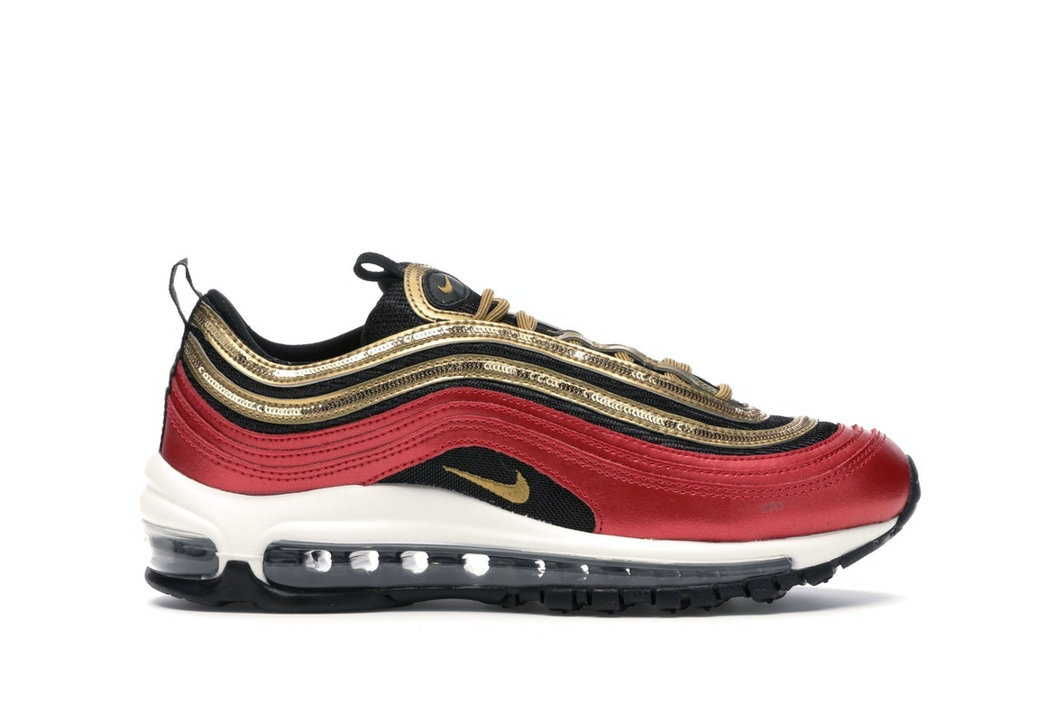 Nike Air Max 97 Red Gold Sequin (W)