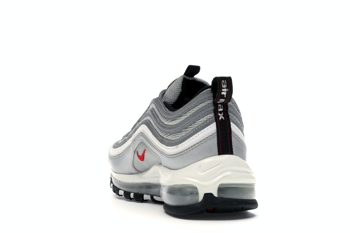 NIKE YOUTH AIR Max 97 QS GS Silver Bullet 918890 001 Size 7Y