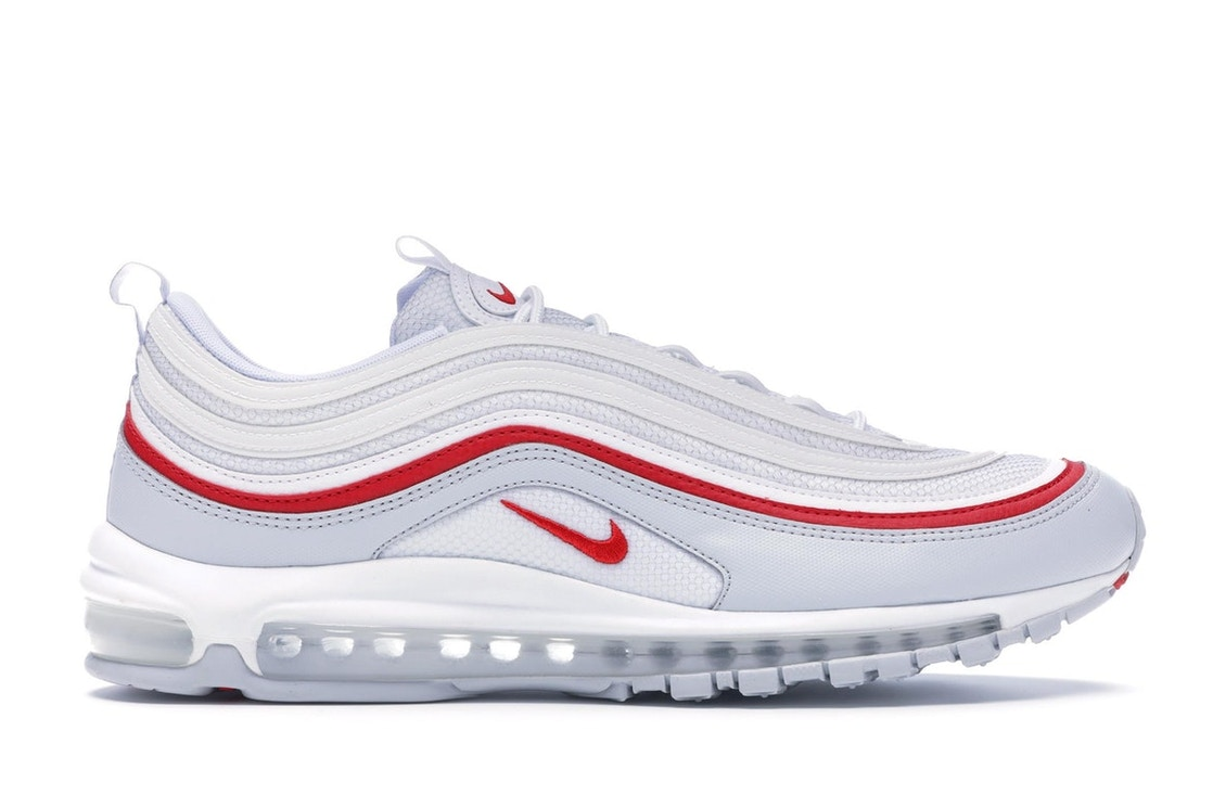 brand new b4af4 fbc29 Air Max 97 White Pure Platinum University Red