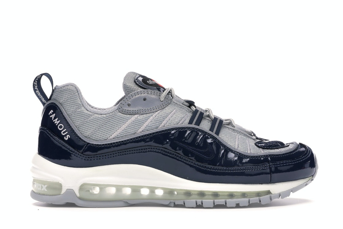 official photos b473f 2032a Air Max 98 Supreme Obsidian
