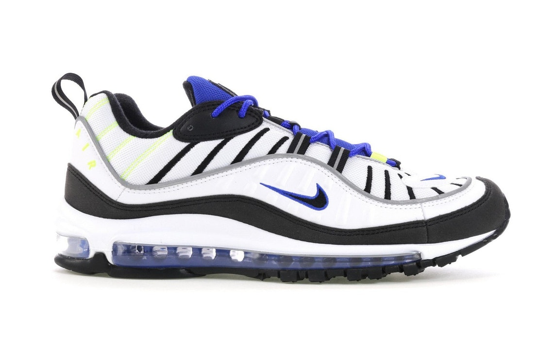 sports shoes 3f209 958a6 Sell. or Ask. Size 6. View All Bids. Air Max 98 White Black Racer Blue