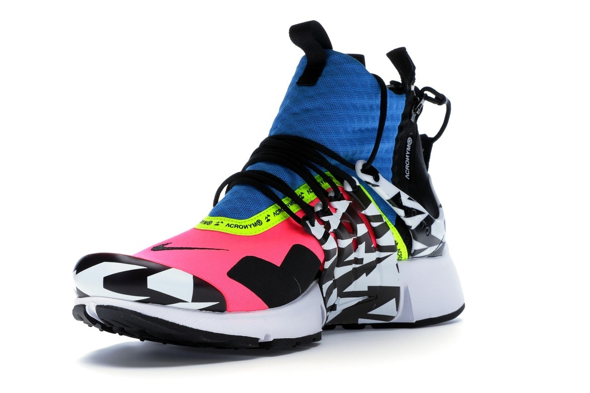 Air Presto Mid Utility X Acronym 'Racer Pink & Black & Photo