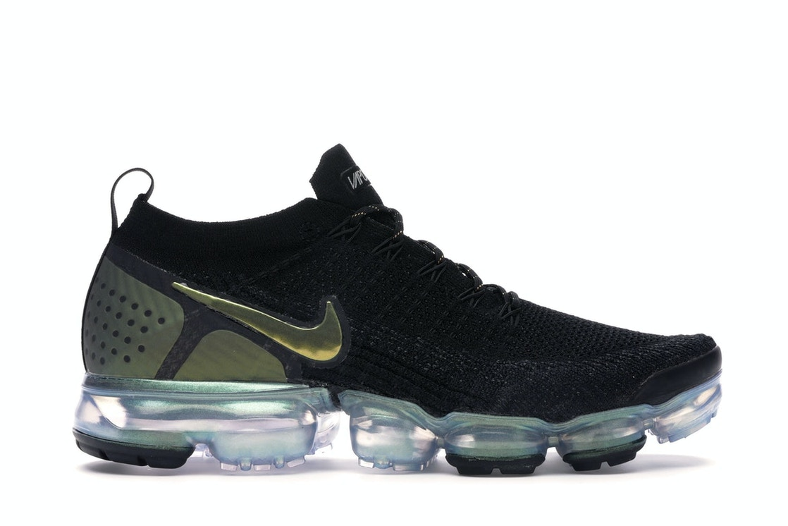 best service bd774 e47e9 Air VaporMax Flyknit 2 Black Metallic Silver Multi-Color