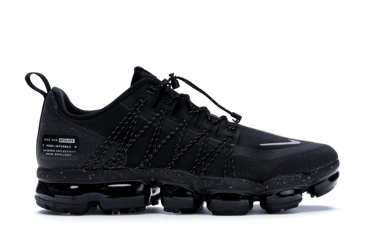 Air VaporMax Run Utility Black Reflect Silver