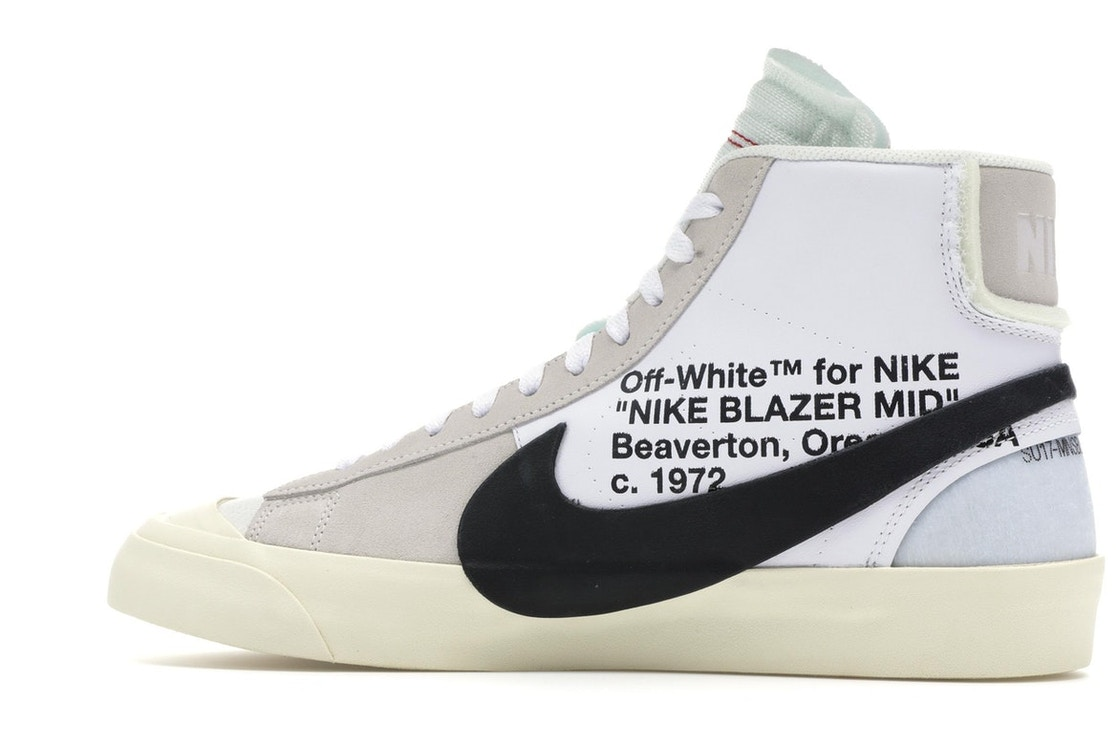 on feet images of outlet online special section Nike Blazer Mid Off-White