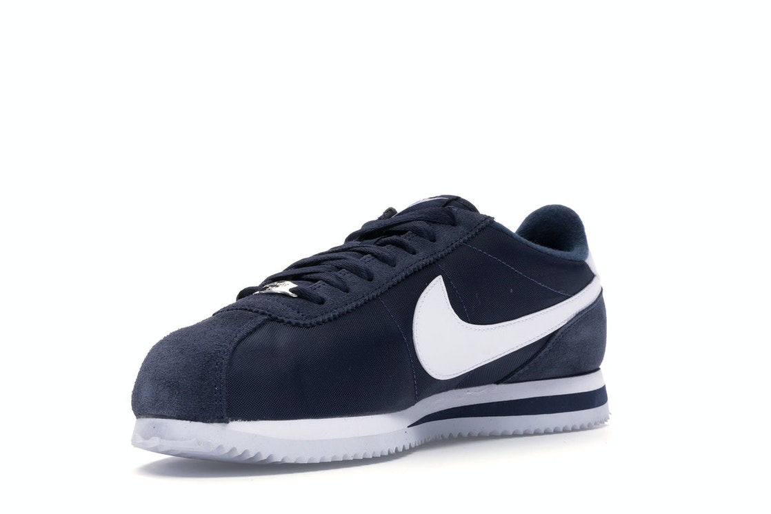 the latest 8b001 109e1 Nike Cortez Basic Nylon Obsidian White-Metallic Silver