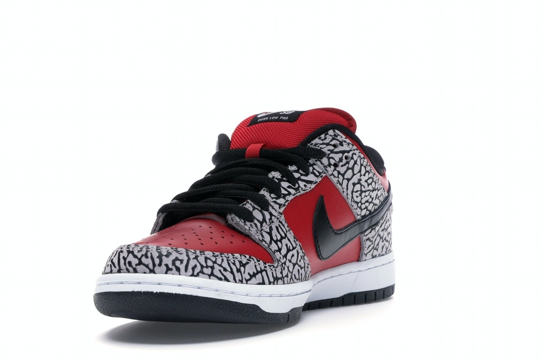 6cd9f83f Nike Dunk SB Low Supreme Red Cement (2012) - 313170-600