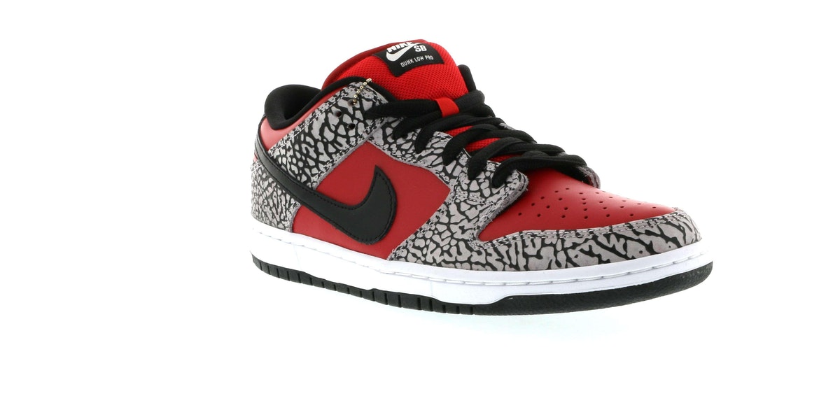 new product c8e8b 22654 ... coupon code for nike dunk sb low supreme red cement 2012 2380d c0640