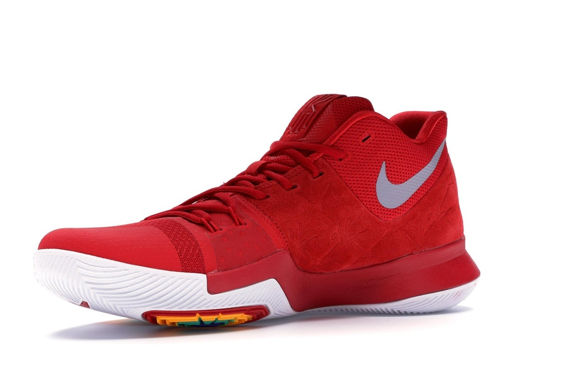 competitive price 36255 c4dbc Kyrie 3 Red Suede - 852395-601