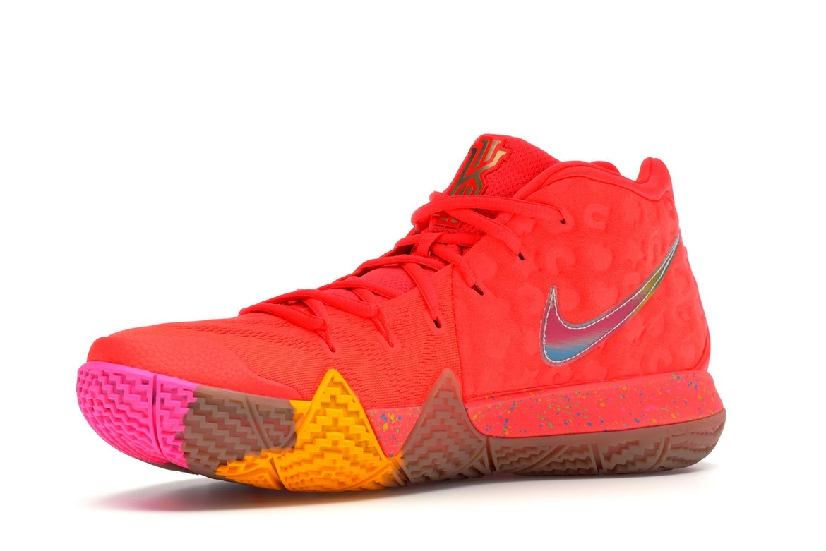 BRAND NEW Kyrie 4 Cereal Pack Lucky Charms Bright Crimson Multi-Color BV0428-600