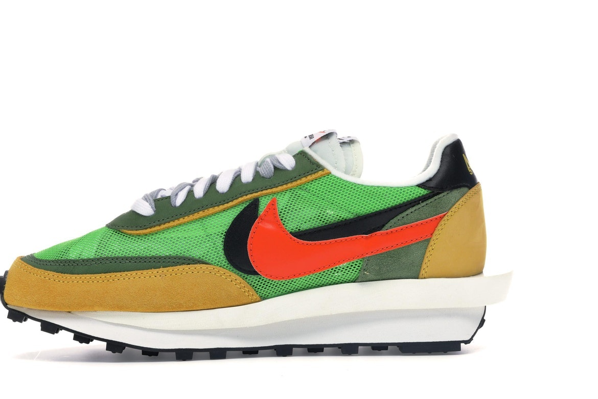 Sacai x Nike LVD Waffle Daybreak Mens Running Shoes Green Pink Yellow ON SALE