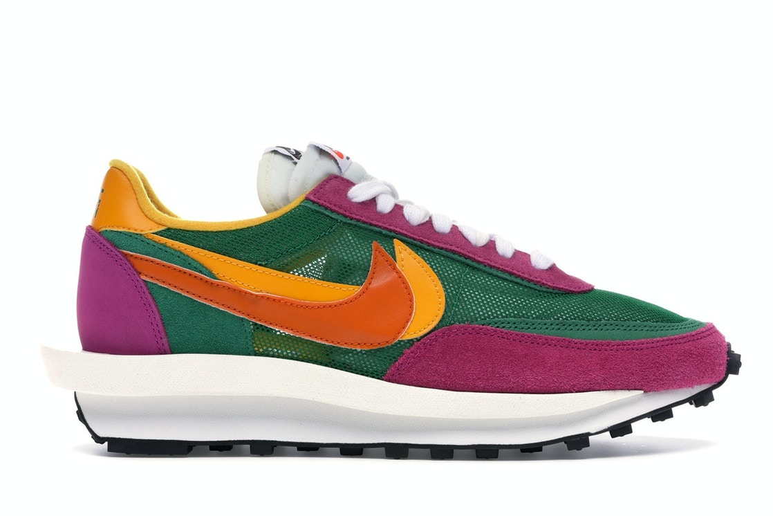 lace up in cost charm release date: Nike LD Waffle sacai Pine Green