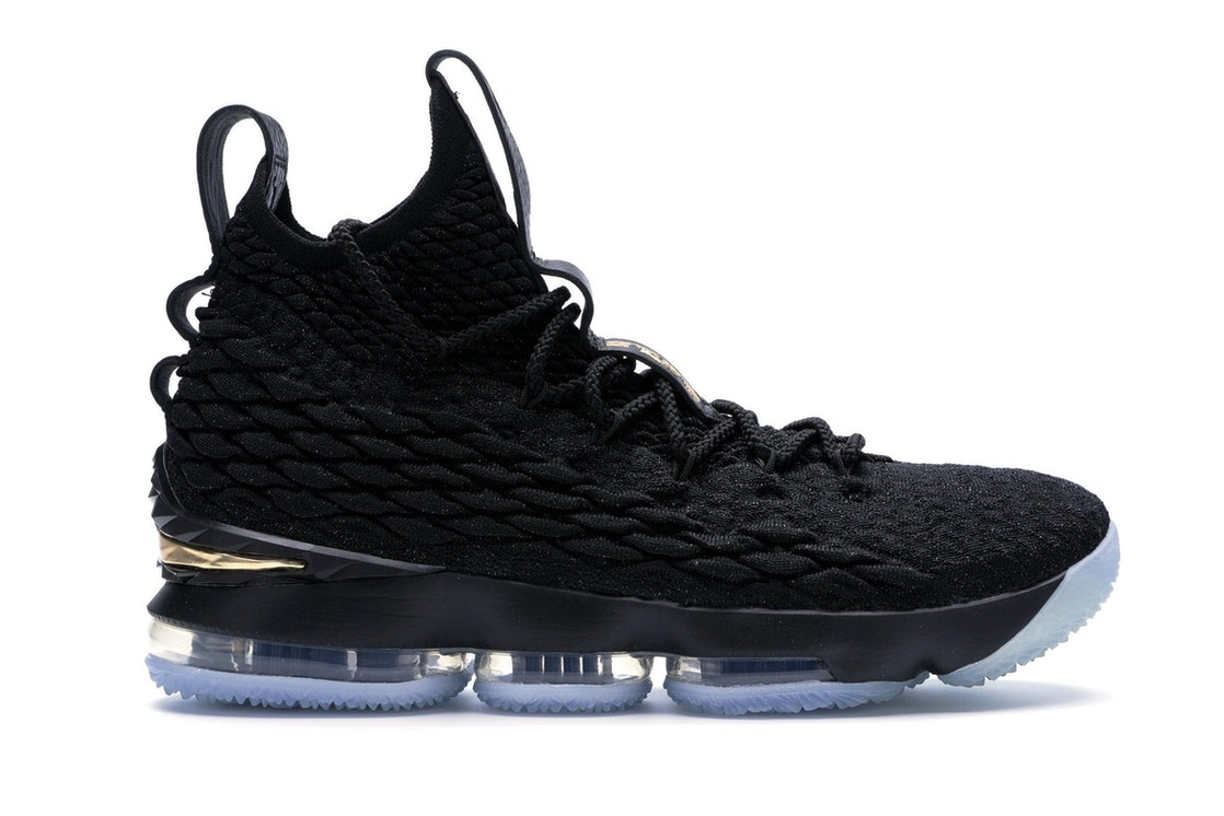new products 2a41b 8f34a LeBron 15 Black Gold