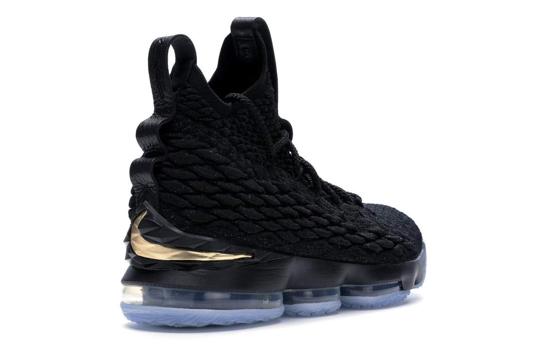 new products 3062b 3d8a8 LeBron 15 Black Gold