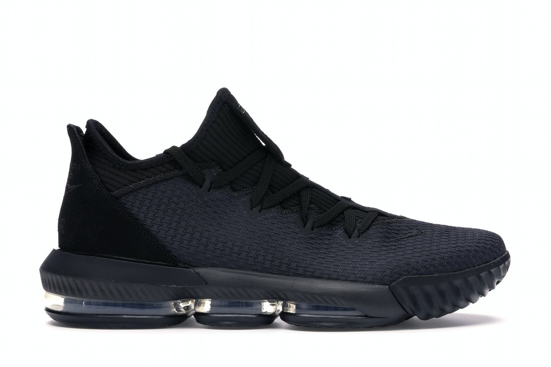 newest a668c c1740 LeBron 16 Low Triple Black