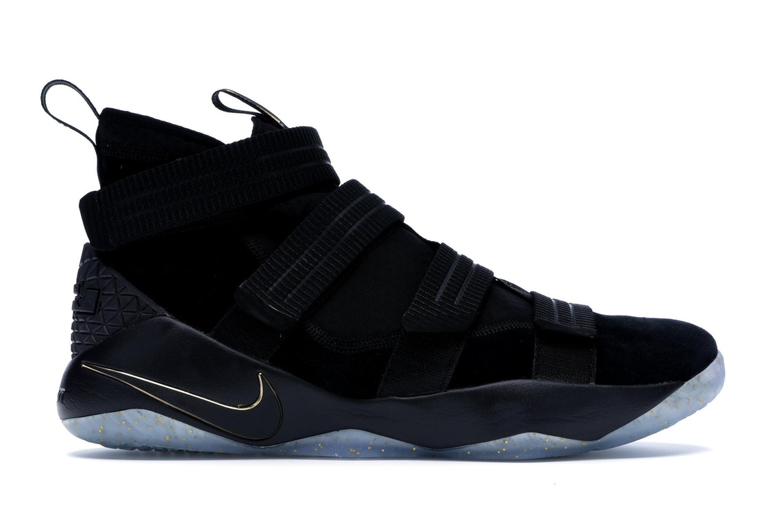 save off e5892 f4aa0 Nike LeBron Zoom Soldier 11 Black Gold