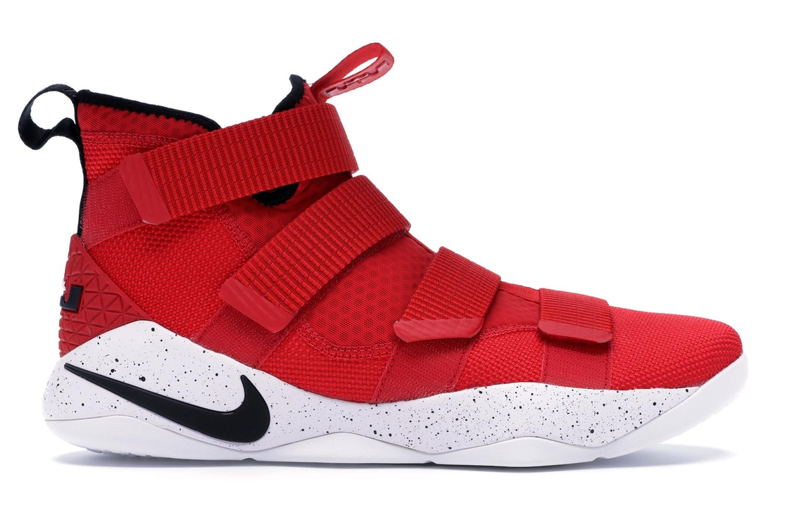 timeless design 0f2ad 38636 LeBron Zoom Soldier 11 University Red White