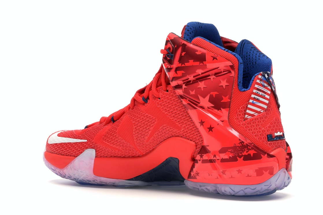 on sale bea66 dbf6c LeBron 12 Independence Day