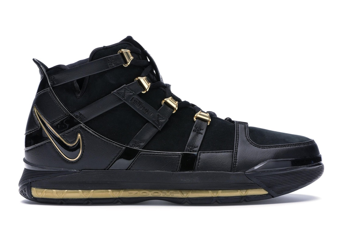 Sell. or Ask. Size  13. View All Bids. Nike LeBron Zoom 3 Black Metallic  Gold ae866ca5d