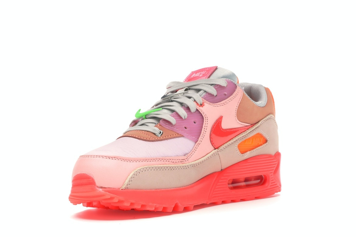 Nike Air Max 90 PRM Platinum CrimsonBright Purple (W)