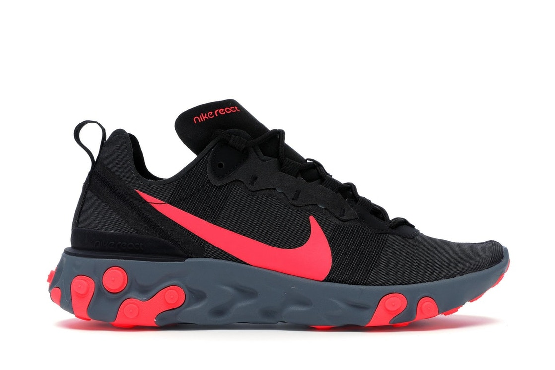 eb6d93a9 Nike React Element 55 Black Solar Red - BQ6166-002