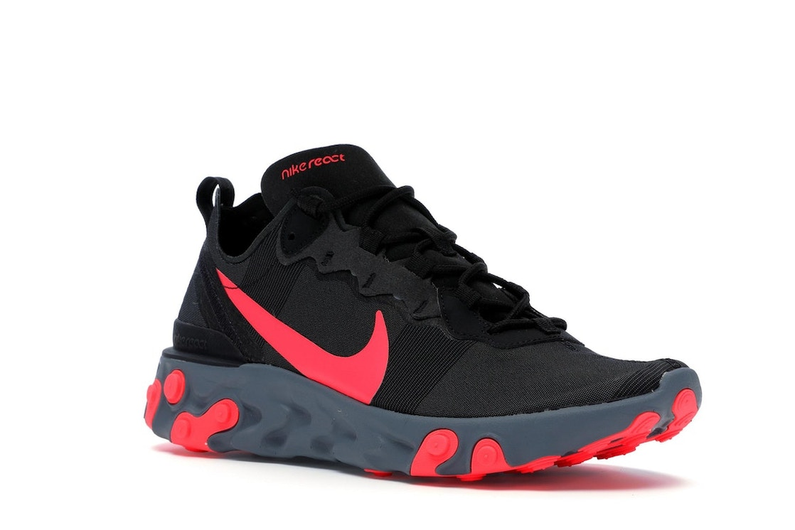 76b463a9 Nike React Element 55 Black Solar Red - BQ6166-002