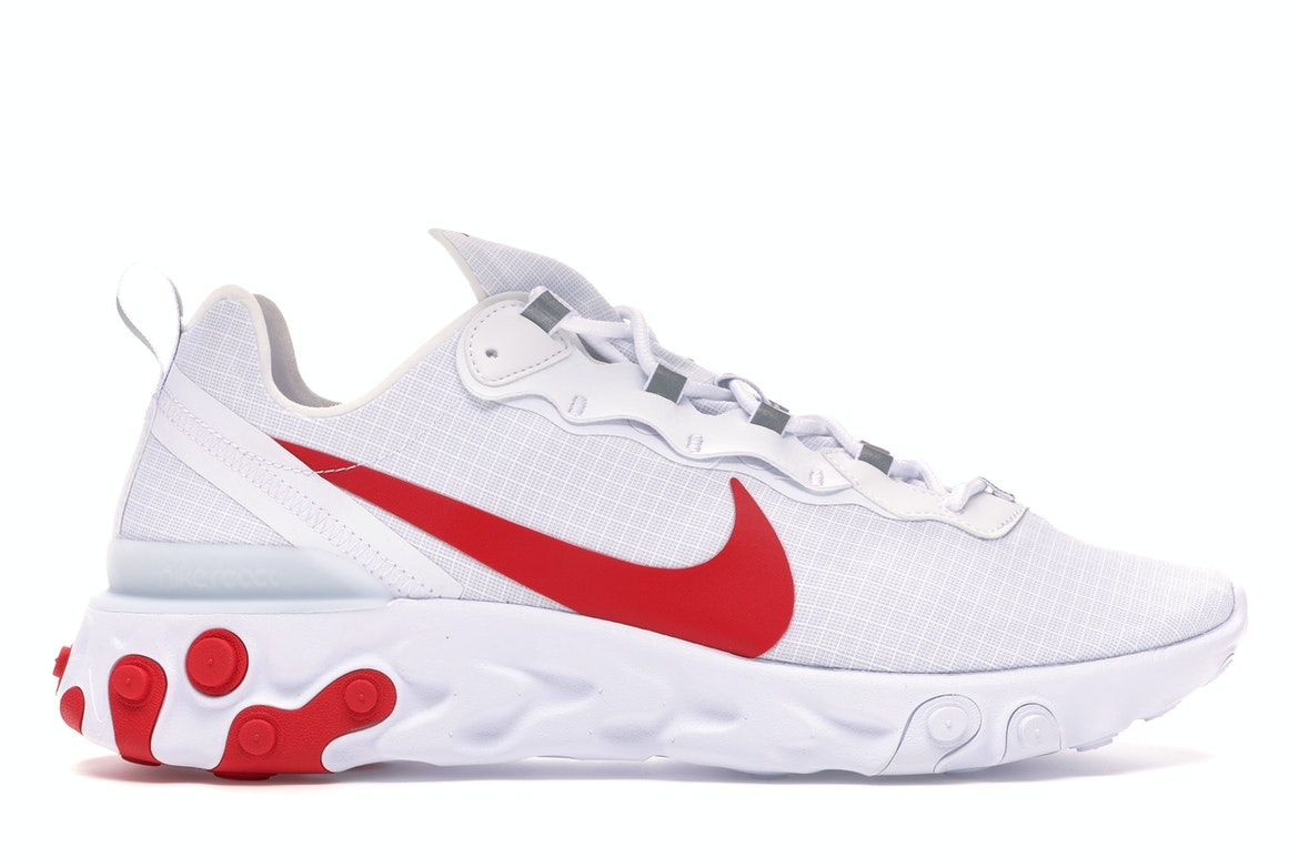 nike react element 55 red white blue