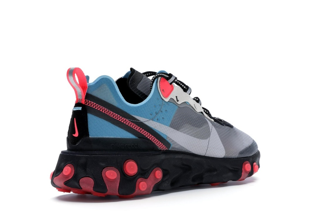 separation shoes 37fba 38b05 Nike React Element 87 Blue Chill Solar Red - AQ1090-006