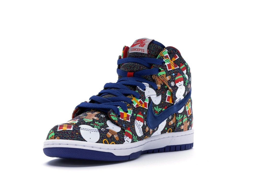 Nike SB Dunk High Concepts Ugly Christmas Sweater (2017) - 881758-446 43997c840de0