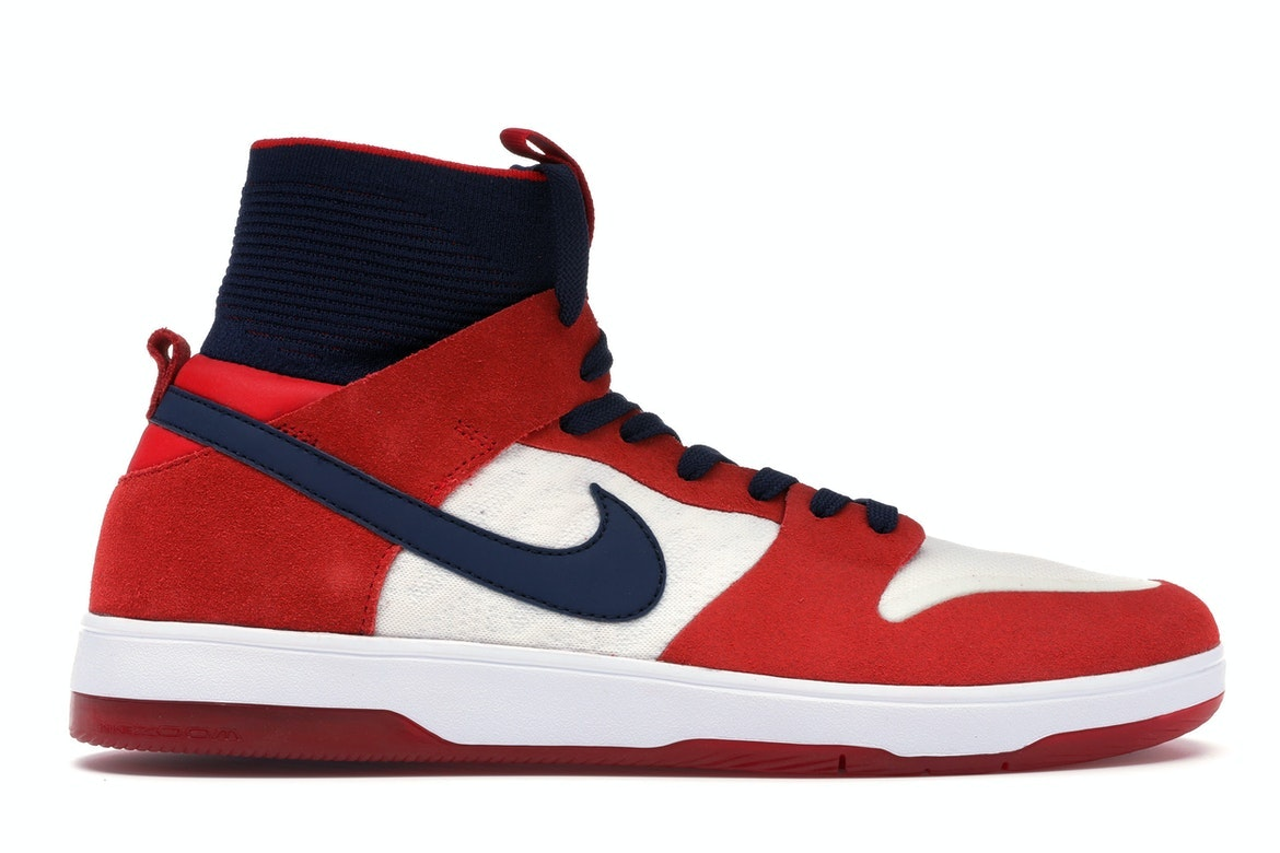 cheap for discount 8ce04 02c2b ... reduced nike sb dunk high elite red navy white 0ff81 65596