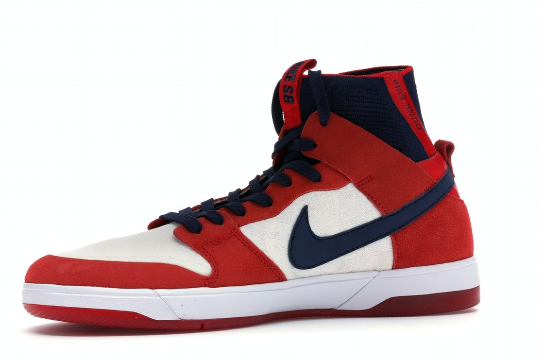 buy online 3a376 8afce Nike SB Dunk High Elite Red Navy White - 917567-641