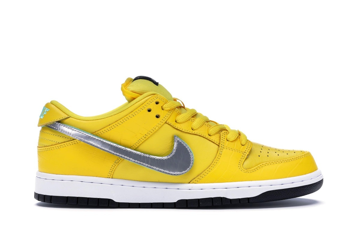 Nike SB Dunk Low Diamond Supply Co Canary Diamond (Friends and ...