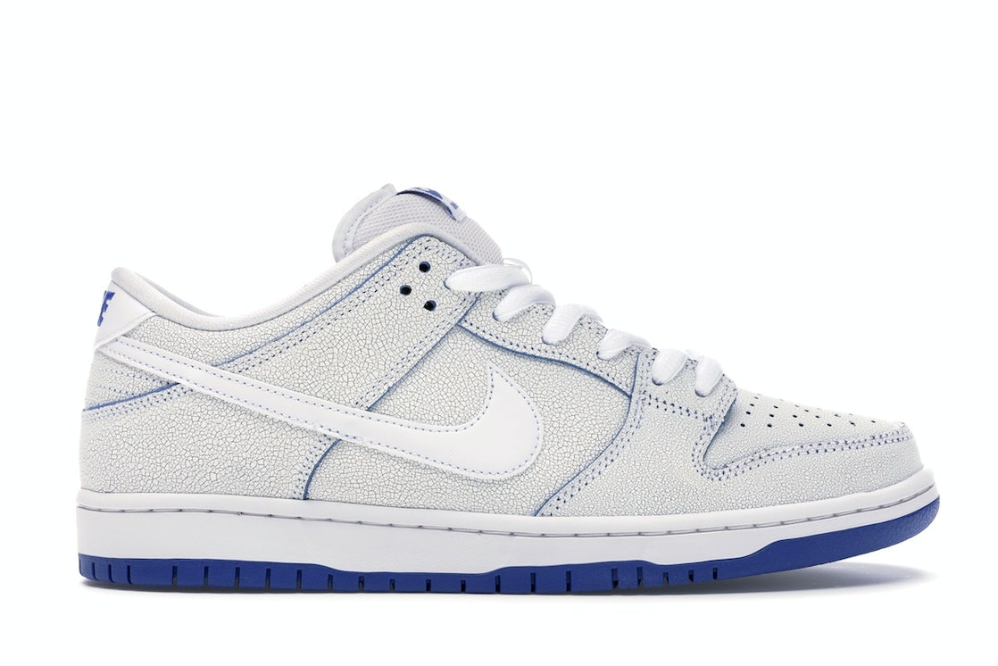 in stock half off for whole family Nike SB Dunk Low Premium White Game Royal