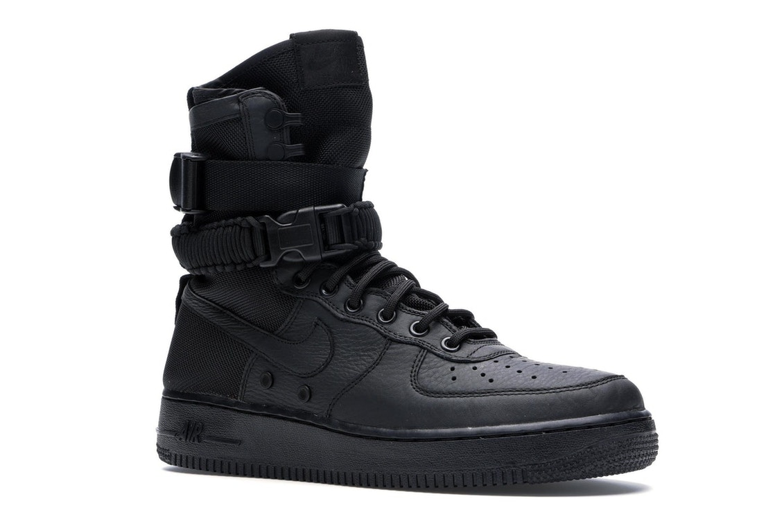san francisco 44561 a4d3c Nike SF Air Force 1 High Triple Black - 864024-003