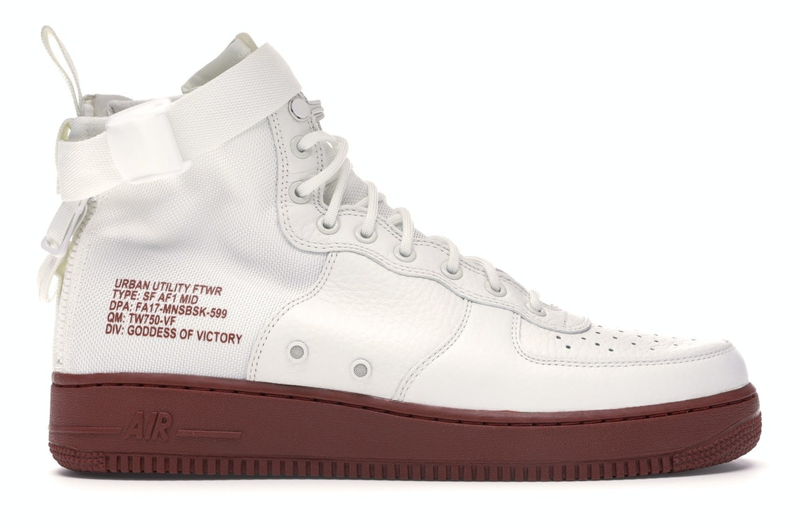 chatarra Estereotipo Jane Austen  Nike SF Air Force 1 Mid Ivory Mars Stone - 917753-100