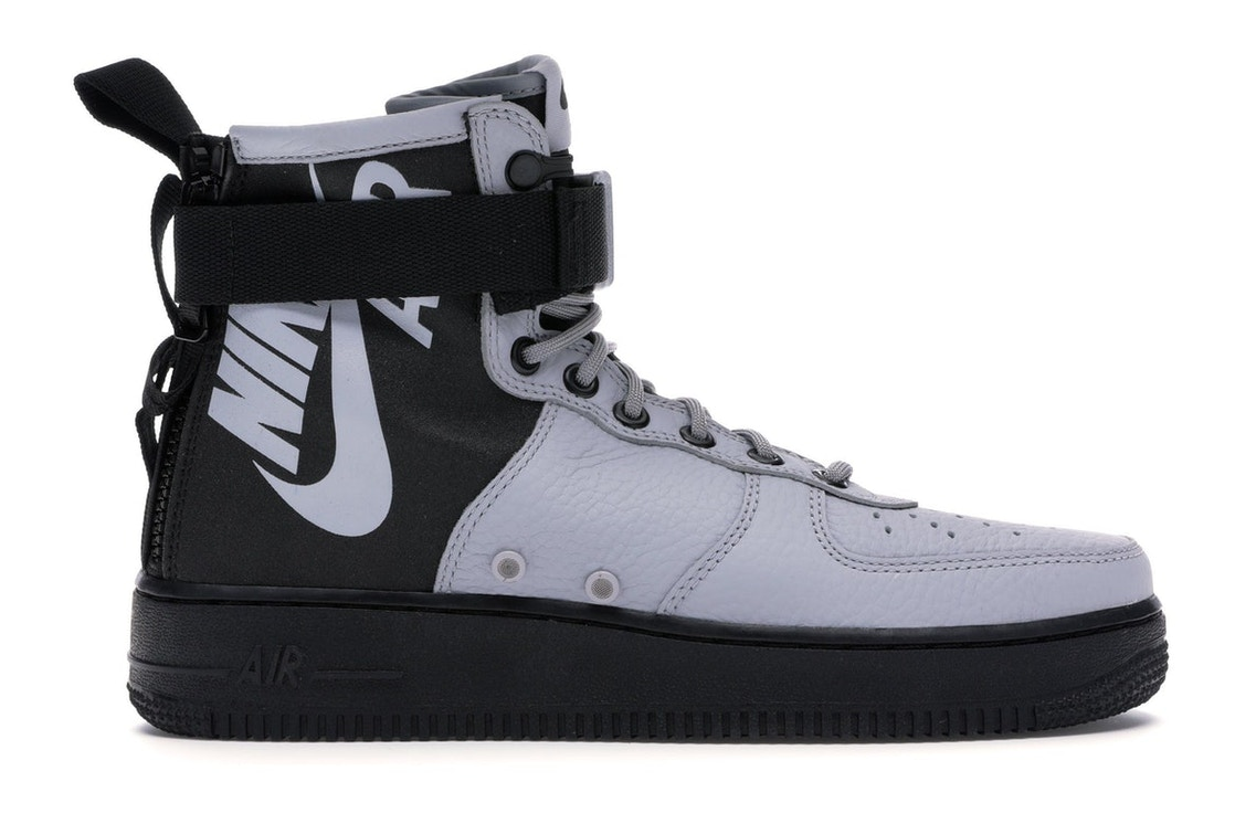 info for f159f 93a61 SF Air Force 1 Mid Wolf Grey Black