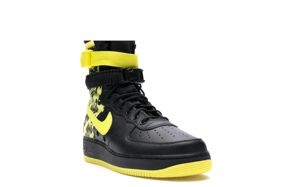 3e1ffc7b9eb9a SF Air Force 1 High Black Dynamic Yellow - AR1955-001