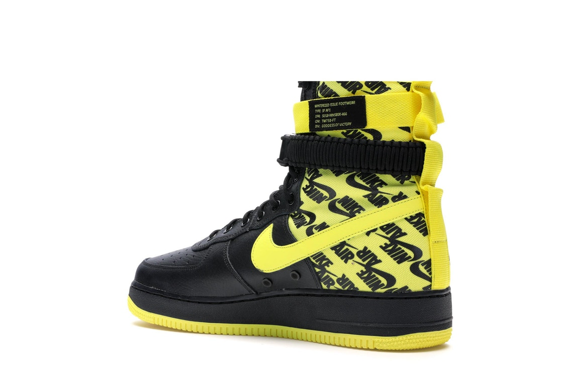 new arrival ab5be f915c SF Air Force 1 High Black Dynamic Yellow - AR1955-001