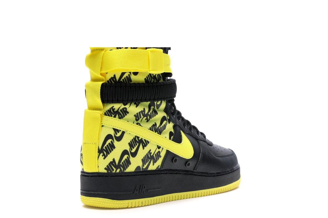 SF Air Force 1 High Black Dynamic Yellow 8789a7d7d