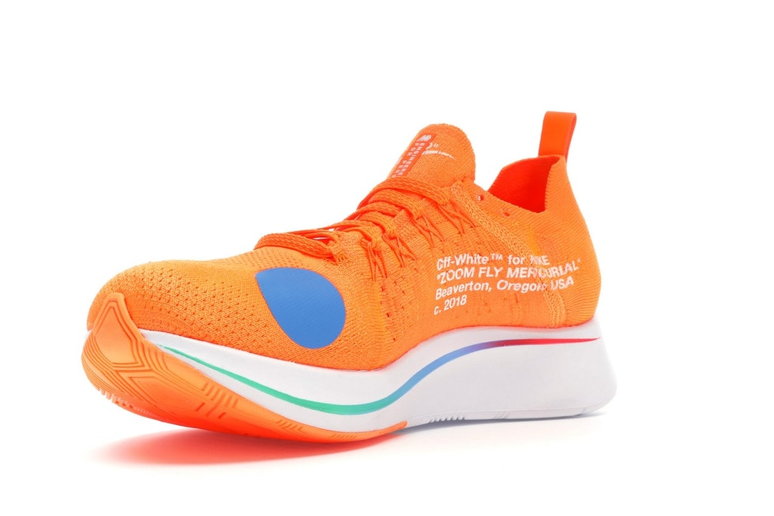 info for 89f4f 67eed Nike Zoom Fly Mercurial Off-White Total Orange - AO2115-800