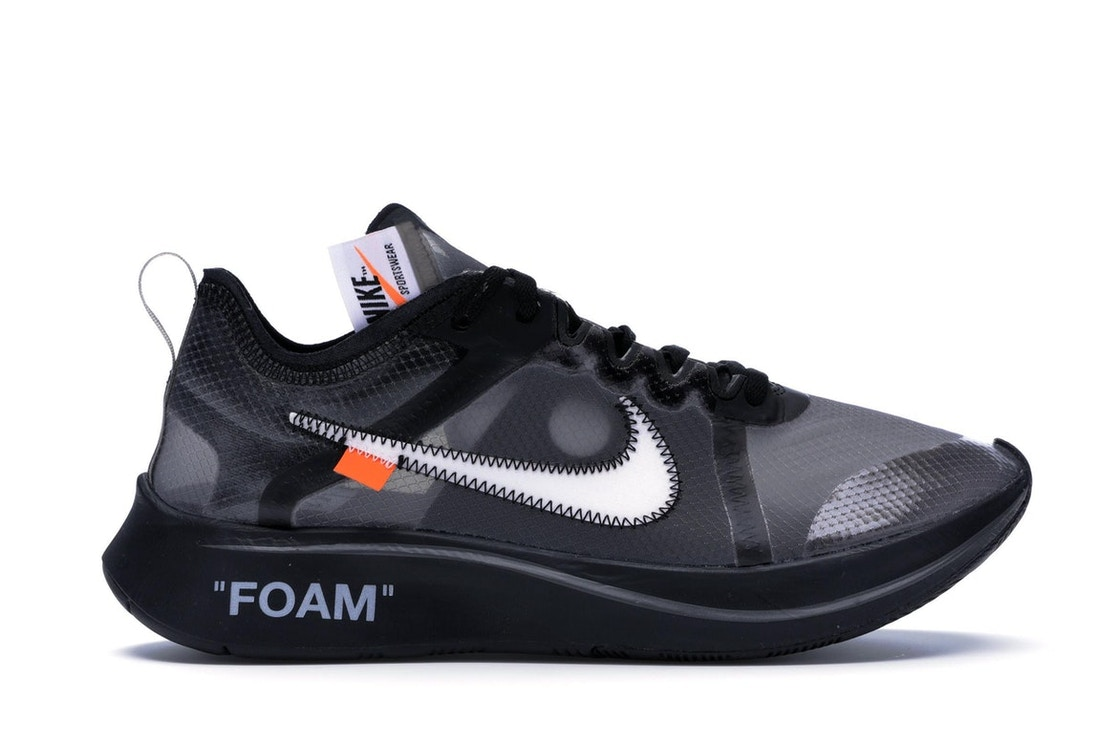 b0199090 Nike Zoom Fly Off-White Black Silver - AJ4588-001