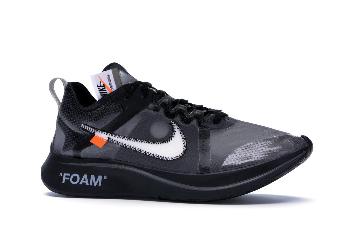 new style bed47 5d1c6 Nike Zoom Fly Off-White Black Silver - AJ4588-001