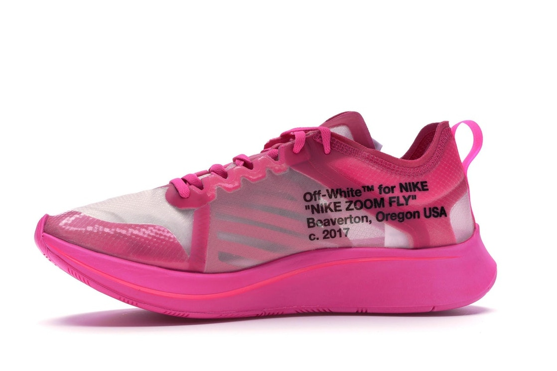 53ae7e36a0b85 Nike Zoom Fly Off-White Pink - AJ4588-600