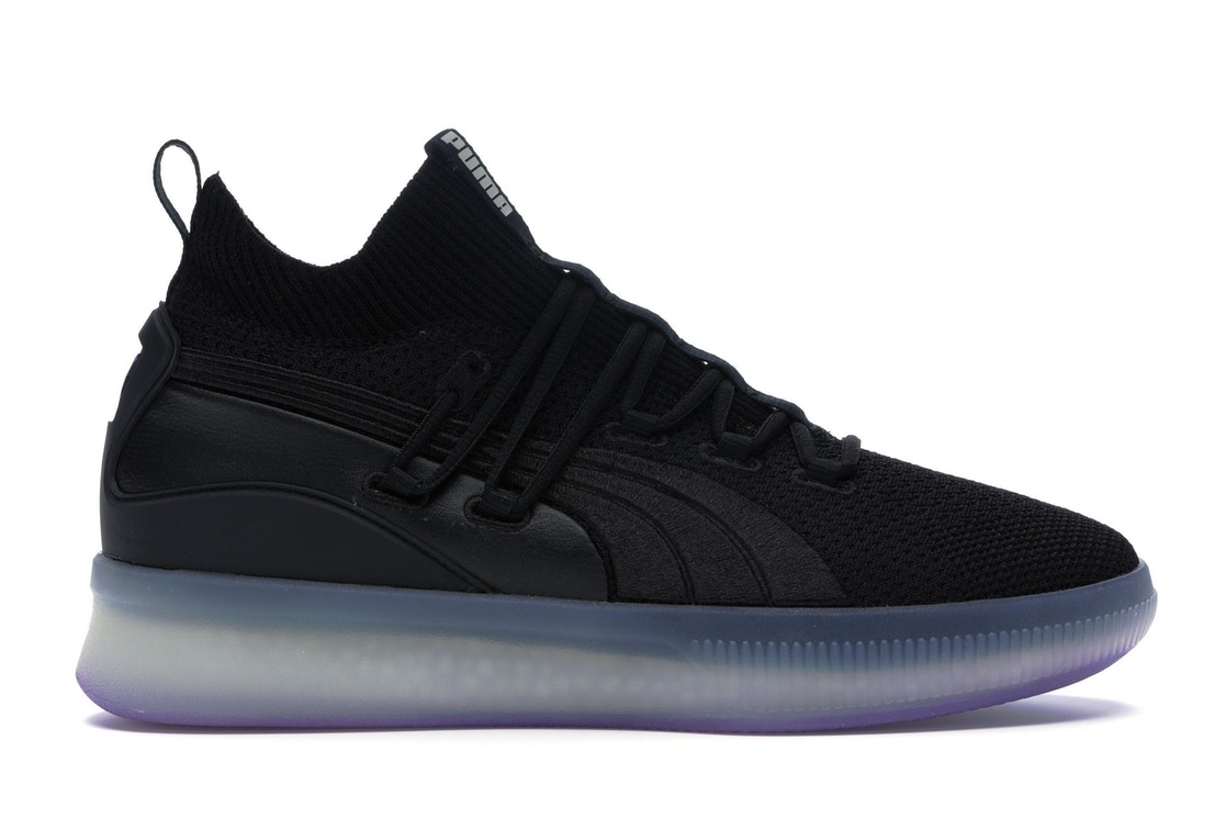 huge discount ac5c4 ea518 Puma Clyde Court Disrupt Black Electric Purple