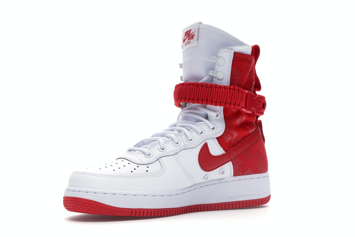 Nike Air Force 1 High SF White University Red AR1955 100