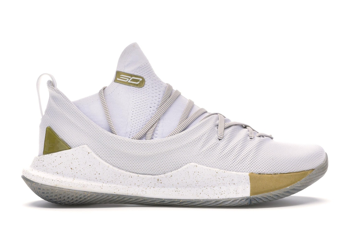 6abf6a5adcb6 Under Armour Curry 5 White Gold - 3020657-100